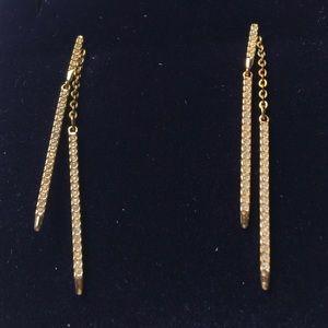 SWAROVSKI Pierced Earring Jackets Gold Tone Plated